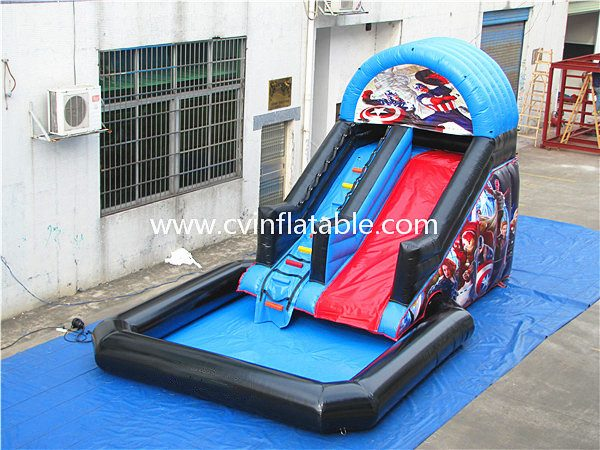 inflatable water slide with pool (4)_