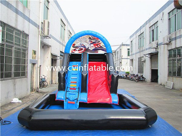 inflatable water slide with pool (5)
