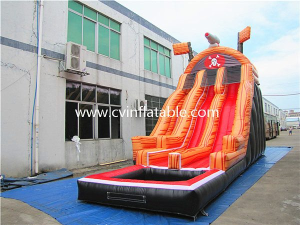 inflatable water slide with pool (7)