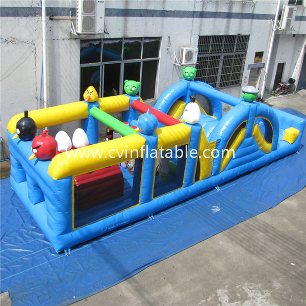 angry bird inflatable obstacle course
