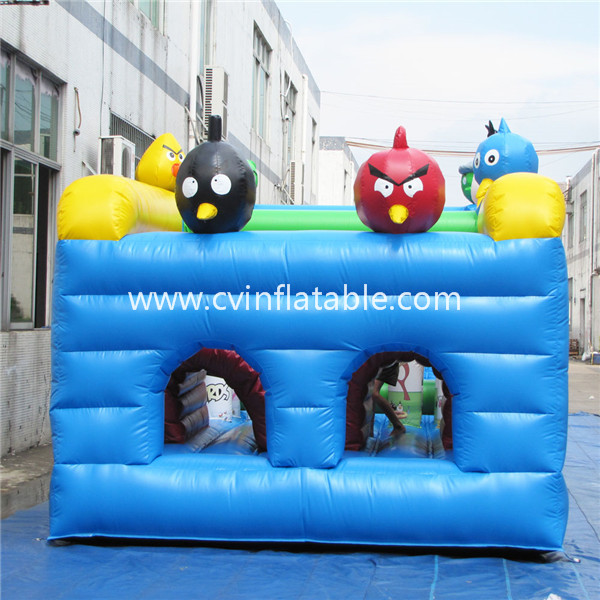 angry bird inflatable obstacle