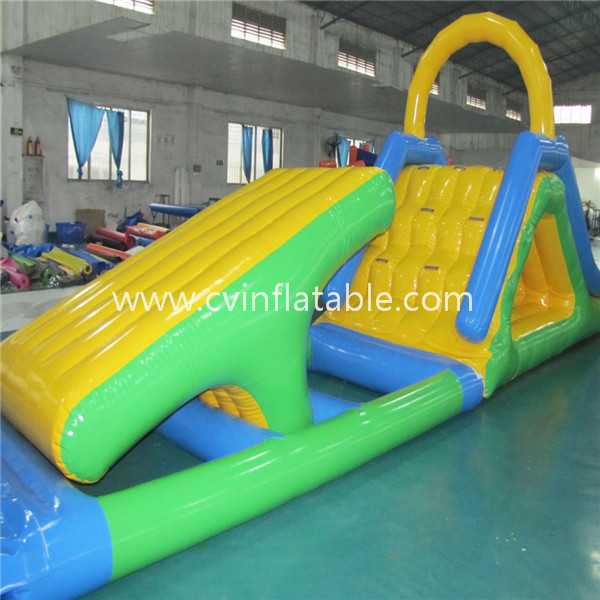 inflatable water floating slide obstacle game