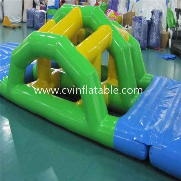 inflatable water floating slide obstacle